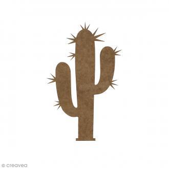 Cactus en bois à décorer - 15 cm