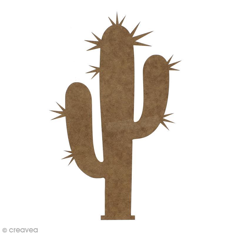 Cactus en bois à décorer - 30 cm - Photo n°1