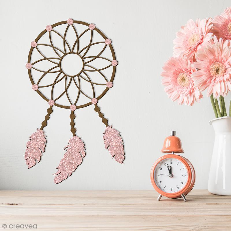 Attrape rêves en bois à décorer - 30 cm - Photo n°2