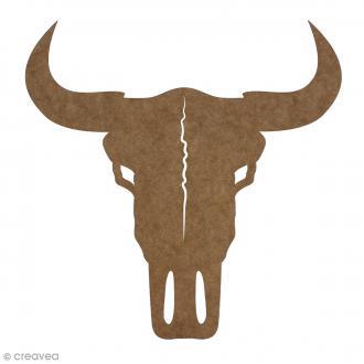 Crâne de taureau en bois à décorer - 30 cm