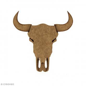 Kit Crâne de taureau 3D 15 cm à monter