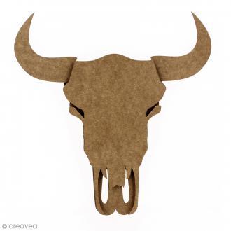 Kit Crâne de taureau 3D 35 cm à monter