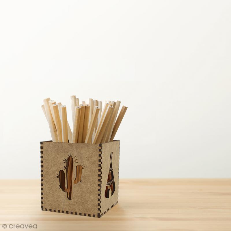 Kit Pot à crayons Grand Ouest à monter - 8 x 8 x 9 cm - Photo n°2