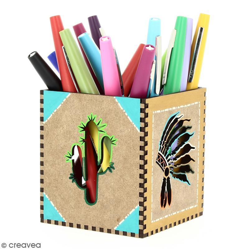 Kit Pot à crayons Grand Ouest à monter - 8 x 8 x 9 cm - Photo n°3
