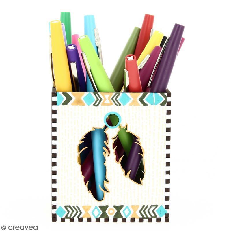 Kit Pot à crayons Grand Ouest à monter - 8 x 8 x 9 cm - Photo n°4
