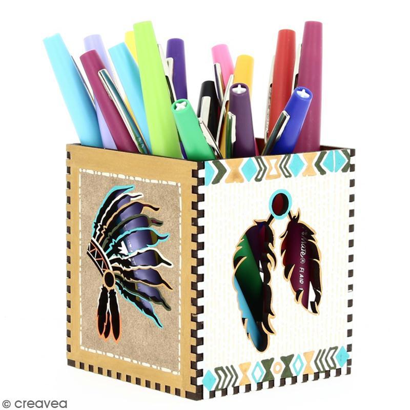 Kit Pot à crayons Grand Ouest à monter - 8 x 8 x 9 cm - Photo n°5