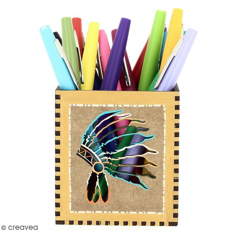 Kit Pot à crayons Grand Ouest à monter - 8 x 8 x 9 cm - Photo n°6