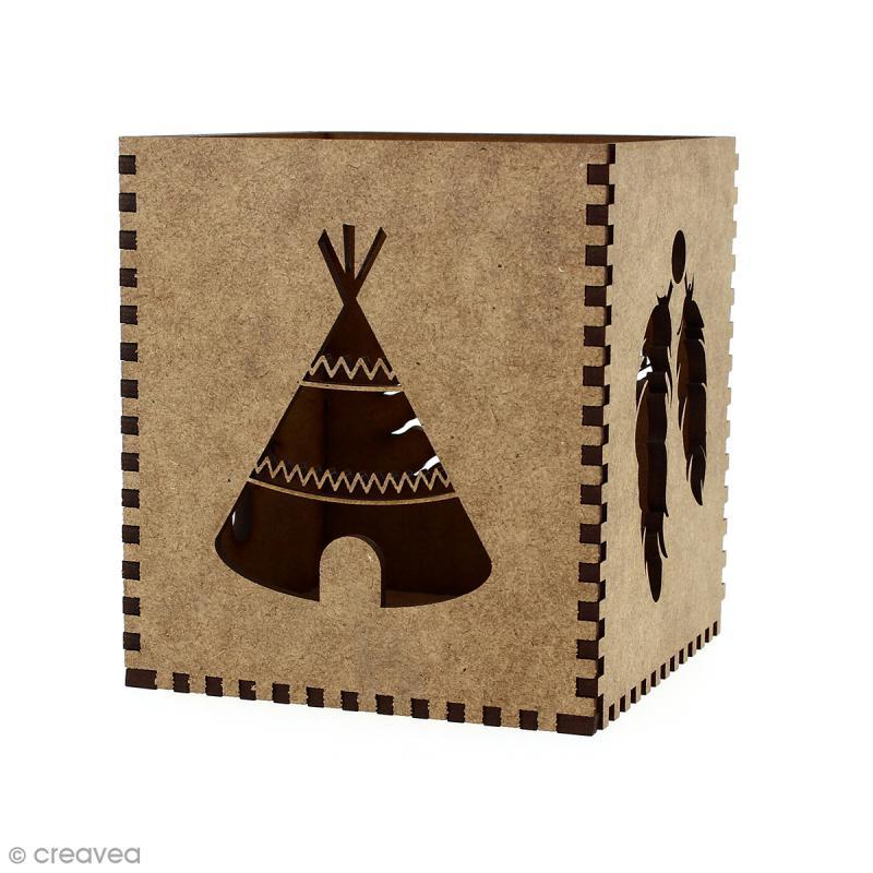 Kit Pot à crayons Grand Ouest à monter - 8 x 8 x 9 cm - Photo n°1