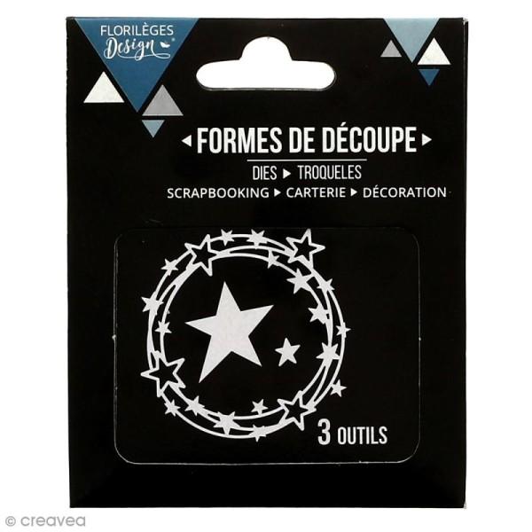 Dies Florilèges Design - Ronde d'étoiles - 3 pcs - Photo n°3