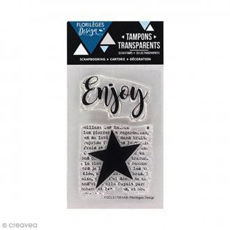 Tampons clear Florilèges Design - Enjoy - 2 tampons