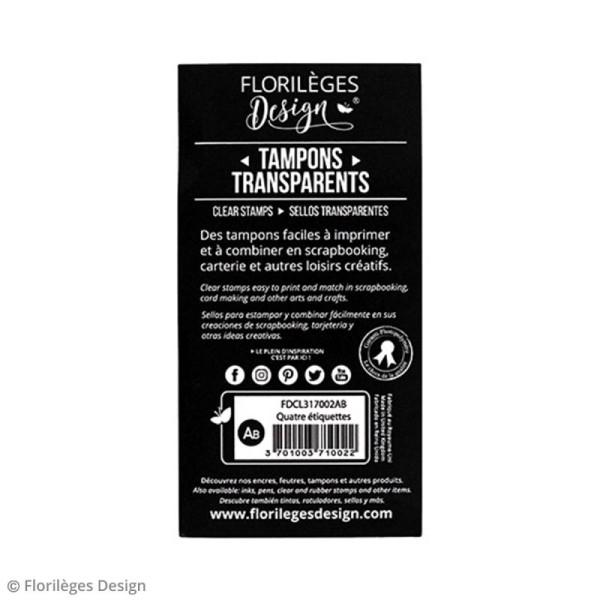 Tampons clear Florilèges Design - Etiquettes - 4 tampons - Photo n°5