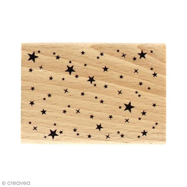 Tampon bois Ciel étoilé - 5 x 7 cm - Photo n°1