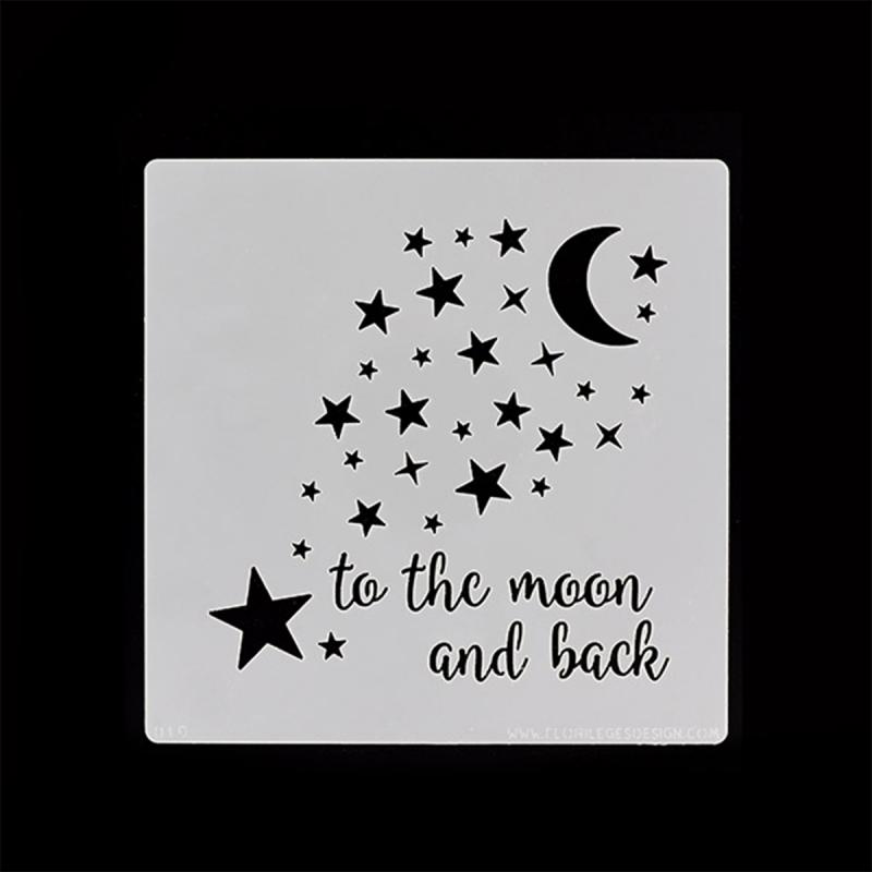 Pochoir To the moon - 12 x 12 cm - Photo n°2