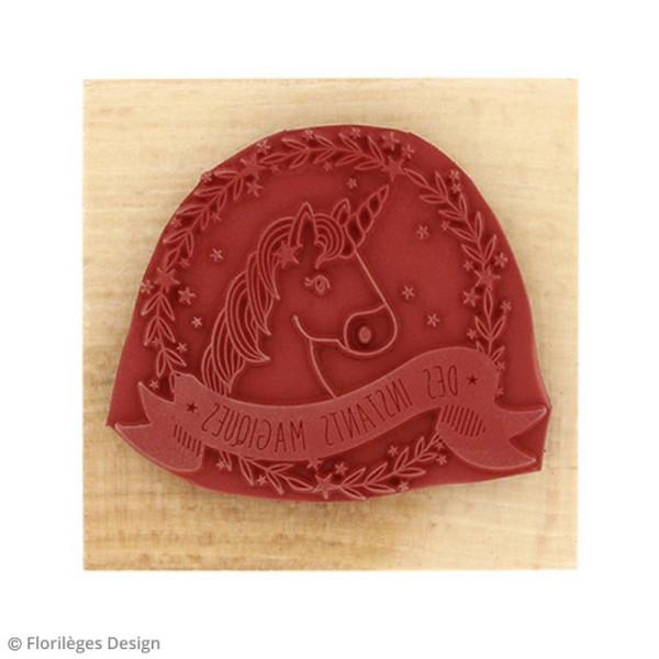 Tampon bois Licorne magique - 7 x 7 cm - Photo n°4