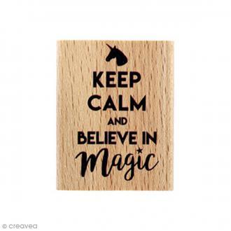 Tampon bois Believe - 4 x 5 cm