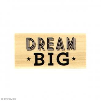 Tampon bois Dream Big - 3 x 6 cm