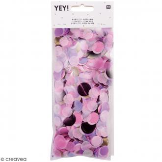 Confettis ronds - Camaïeu de Rose
