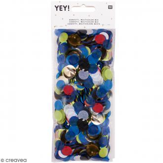 Confettis ronds - Bleu et Vert