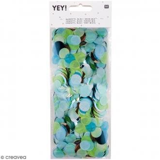 Confettis ronds - Camaïeu Bleu et Vert
