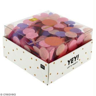Confettis ronds - Camaïeu Rose pastel