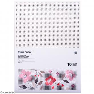 Cartons à broder - Carré - 17,5 x 24,5 cm - 10 pcs