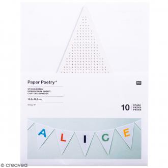 Cartons à broder - Fanion triangle - 16,5 x 20,5 cm - 10 pcs