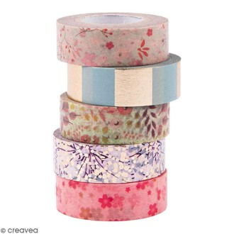 Assortiment Masking Tape - Bouquet Sauvage - 1,5 cm x 10 m - 5 pcs