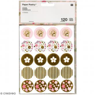 Stickers métallisés - Bouquet Sauvage - 120 pcs