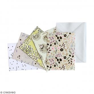 Kit de mini cartes et enveloppes - Bouquet Sauvage - 10 pcs