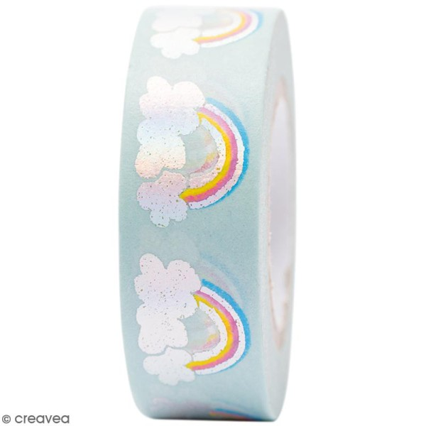 Masking tape Semi transparent - Arc-en-ciel - Magical Summer - 1,5 cm x 10 m - Photo n°1