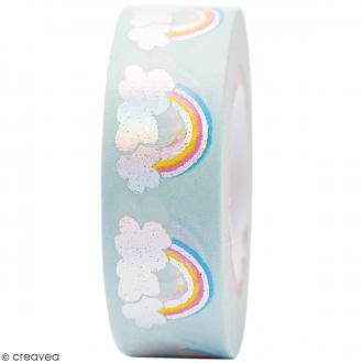Masking tape Semi transparent - Arc-en-ciel - Magical Summer - 1,5 cm x 10 m