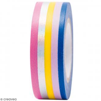 Masking tape Semi transparent - Bandes foil - Magical Summer - 1,5 cm x 10 m