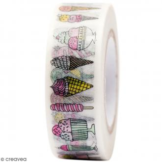 Masking tape Semi transparent - Glaces - Magical Summer - 1,5 cm x 10 m