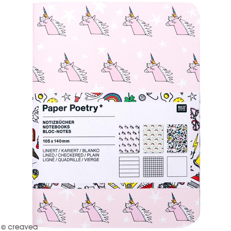 Carnets Bloc-Notes - Magical Summer - 10,5 x 14 cm - 3 pcs - Photo n°1