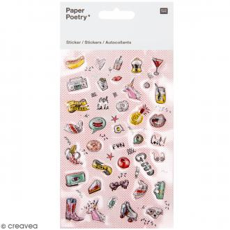 Mini stickers 3D - Cool  - Magical Summer