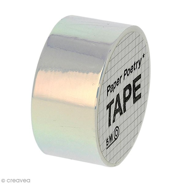 Masking tape Miroir - Nacré reflets roses - Photo n°1