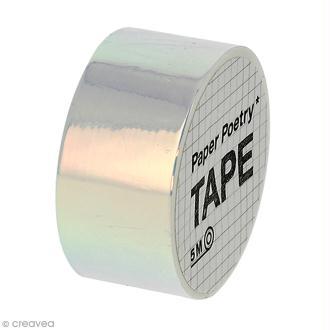 Masking tape Miroir - Nacré reflets roses