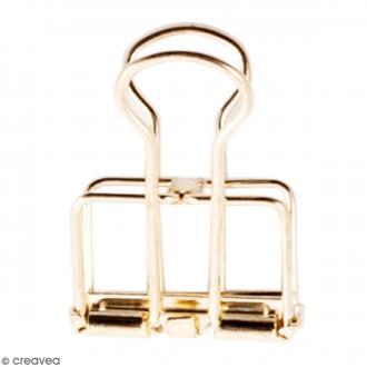 Pinces double clip fil de fer à dessin - Doré - 1,9 cm - 6 pcs