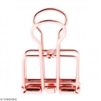 Pinces double clip fil de fer à dessin - Rose Gold - 1,9 cm - 6 pcs