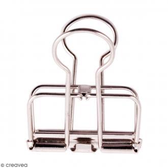 Pinces double clip fil de fer à dessin - Argenté - 3,2 cm - 3 pcs