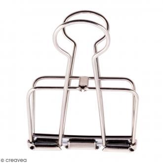Pince double clip fil de fer à dessin - Argenté - 5,1 cm - 1 pce