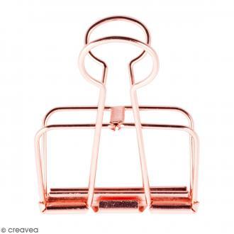 Pince double clip fil de fer à dessin - Rose Gold - 5,1 cm - 1 pce