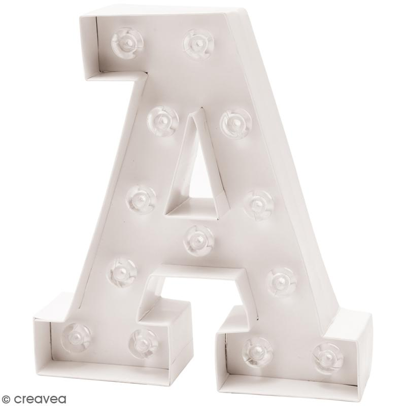 lettre lumineuse led a 18 x 20 x 5 cm lettre lumineuse led creavea. Black Bedroom Furniture Sets. Home Design Ideas