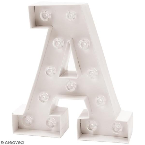 Lettre lumineuse à Led - A - 18 x 20 x 5 cm - Photo n°1
