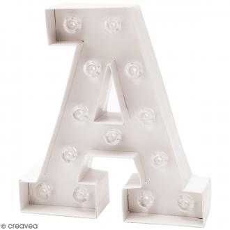 Lettre lumineuse à Led - A - 18 x 20 x 5 cm