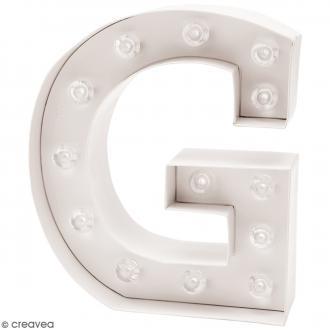 Lettre lumineuse à Led - G - 18 x 20 x 5 cm