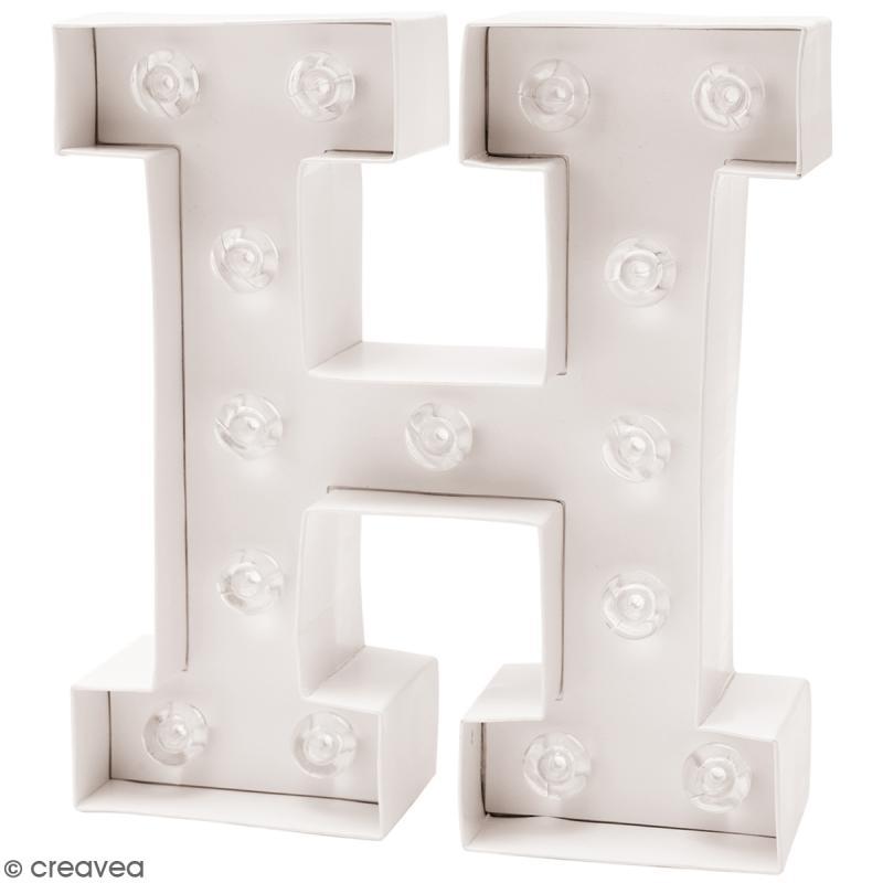 lettre lumineuse led h 18 x 20 x 5 cm lettre. Black Bedroom Furniture Sets. Home Design Ideas