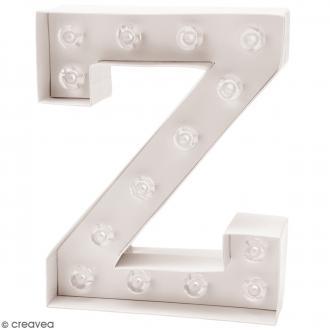 Lettre lumineuse à Led - Z - 18 x 20 x 5 cm