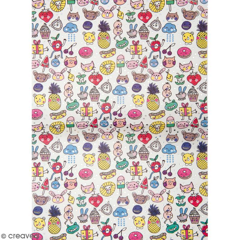 Papier décoratif à l'unité - Magical Summer - 30 x 42 cm - Kwai - Photo n°1
