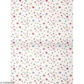 Papier décoratif à l'unité - Magical Summer - 30 x 42 cm - Étoiles multicolores